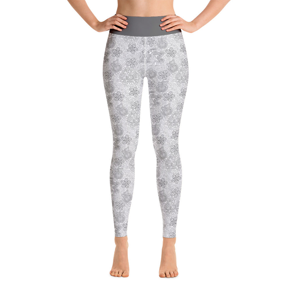 FOLQ Perfect Yoga Leggings Mexican Bird Grey