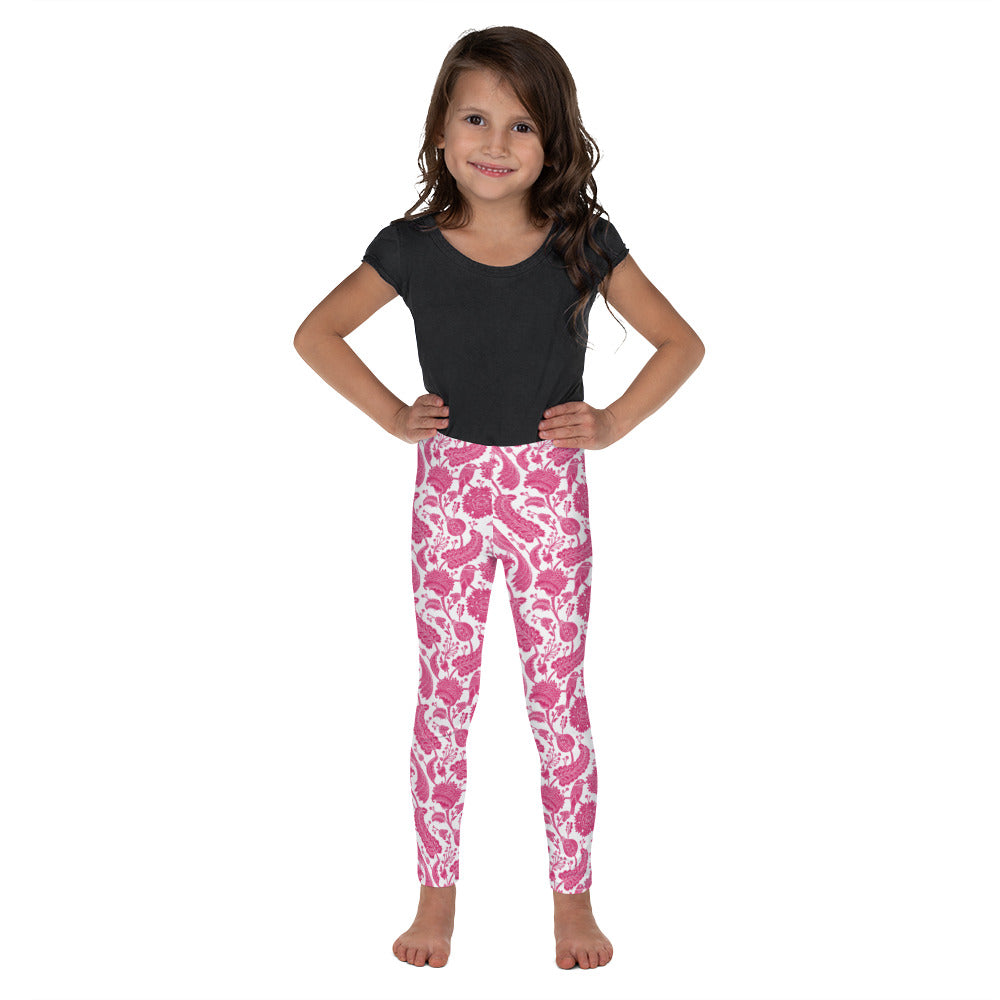 FOLQ Kids' Leggings Paisley Fuchsia