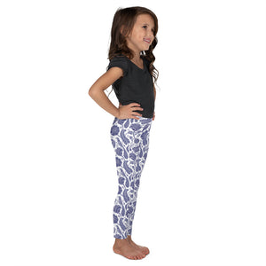 Kids' Leggings Paisley Cobalt Blue