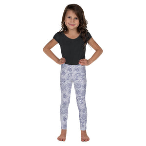 FOLQ Kids' Leggings Mexican Bird Cobalt Blue