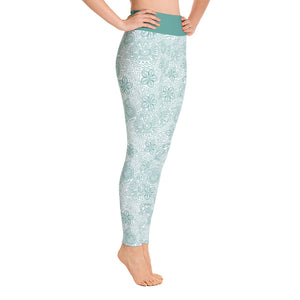 FOLQ Perfect Yoga Leggings Mexican Bird Emerald