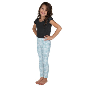 Kids' Leggings Mexican Bird Turquoise