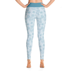 Perfect Yoga Leggings Mexican Bird Turquoise