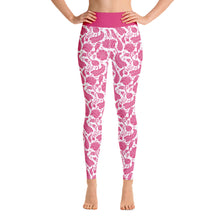 Load image into Gallery viewer, Perfect Yoga Leggings Paisley Fuchsia