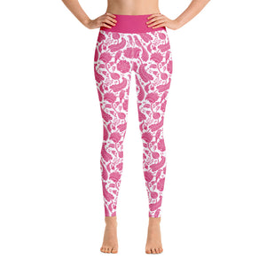 Perfect Yoga Leggings Paisley Fuchsia