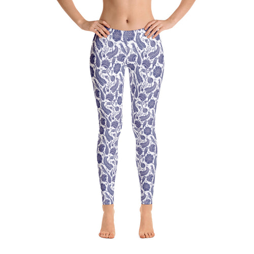 FOLQ Perfect Leggings Paisley Cobalt Blue