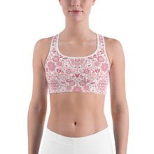 Load image into Gallery viewer, Sports Bra Floral Pink