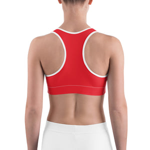 Sports Bra Red Hearts
