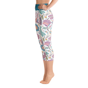 Yoga Capri Leggings Paisley Multi