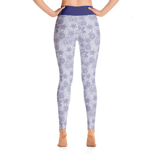 Perfect Yoga Leggings Mexican Bird Cobalt Blue