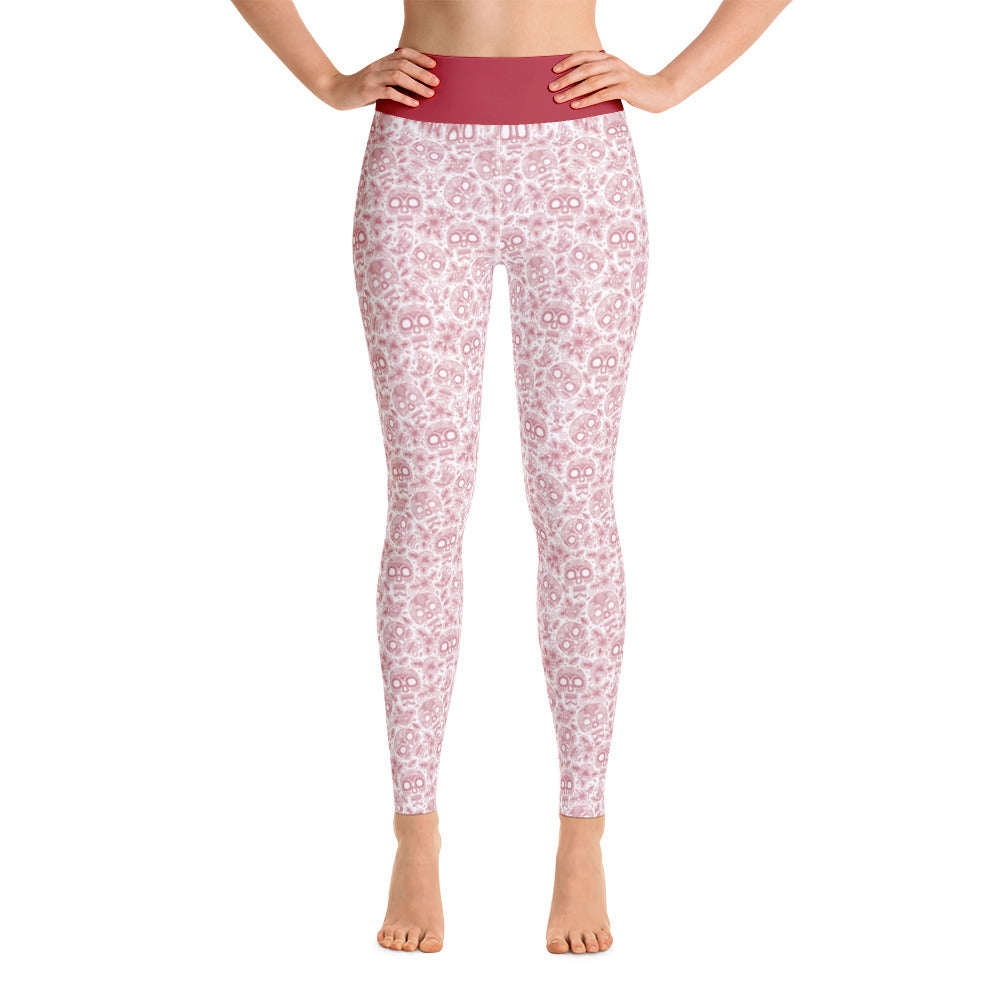 FOLQ Perfect Yoga Leggings Skull Ruby