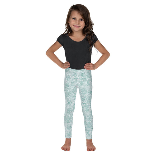 FOLQ Kids' Leggings Mexican Bird Emerald