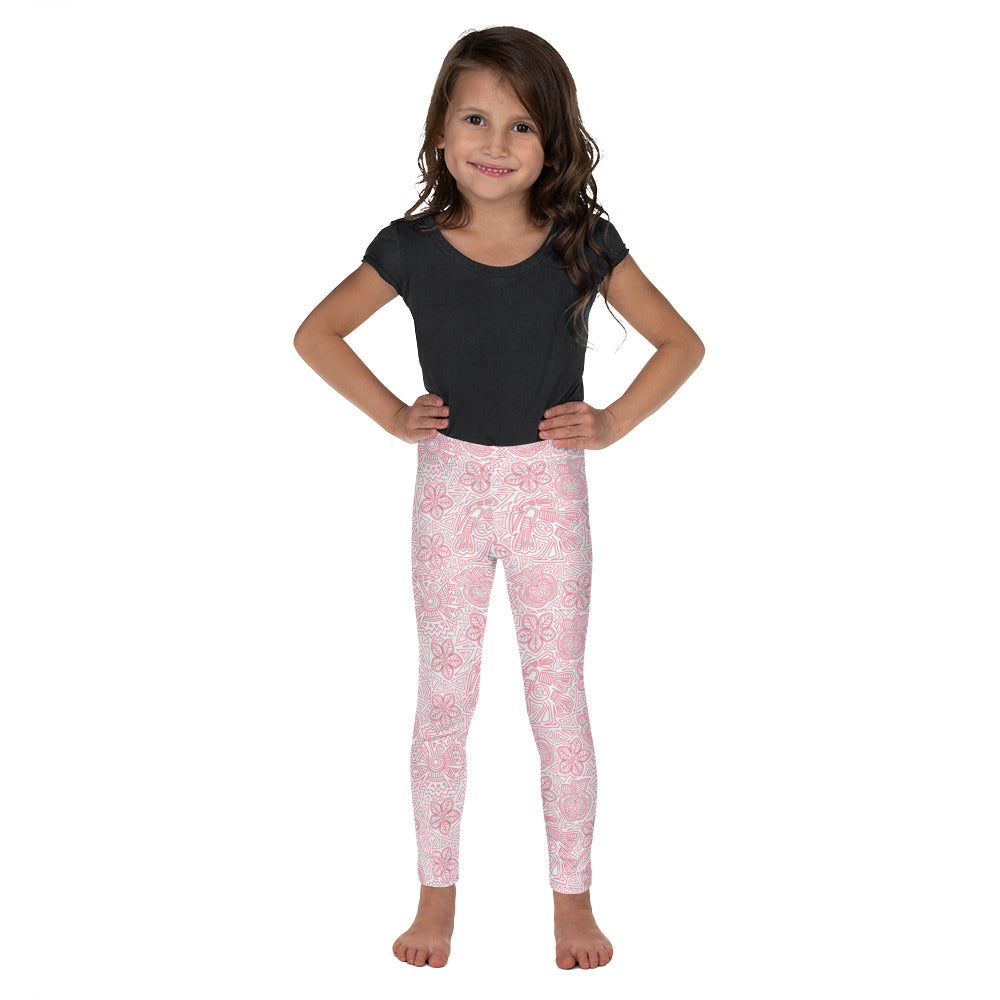 Kids' Leggings Mexican Bird Pink