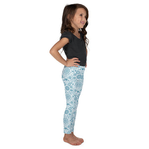 Kids' Leggings Floral Turquoise