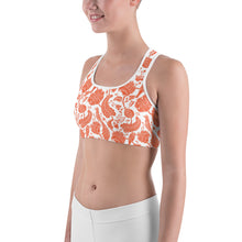 Load image into Gallery viewer, Sports Bra Paisley Orange