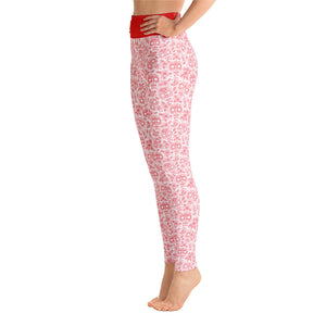 FOLQ Perfect Yoga Leggings Skull Red