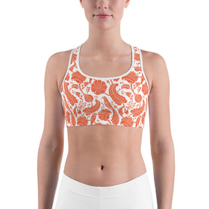 Sports Bra Paisley Orange
