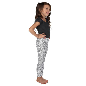Kids' Leggings Floral Grey