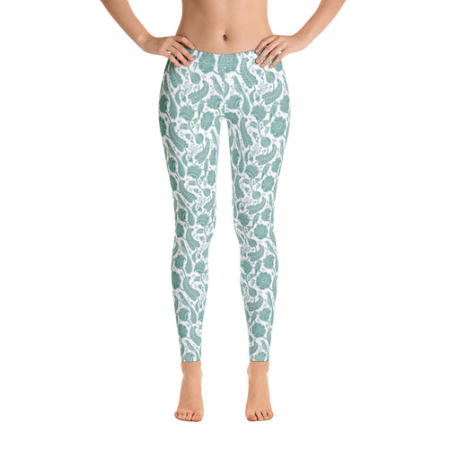 FOLQ Perfect Leggings Paisley Emerald