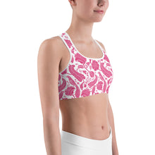 Load image into Gallery viewer, Sports Bra Paisley Fuchsia