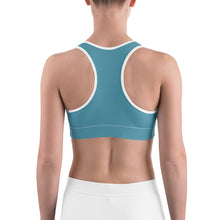 Load image into Gallery viewer, Sports Bra Floral Turquoise