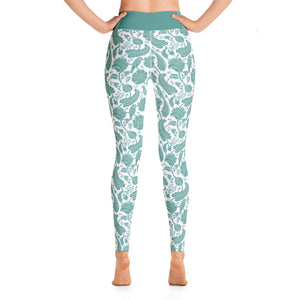 Perfect Yoga Leggings Paisley Emerald