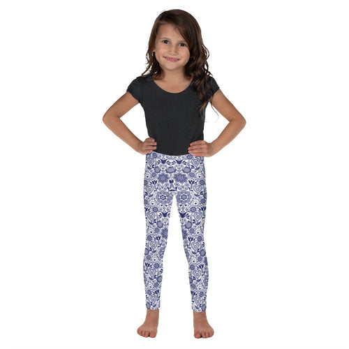 FOLQ Kids' Leggings Floral Cobalt Blue