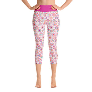 FOLQ Yoga Capri Leggings Silk Road Multi