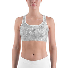 Load image into Gallery viewer, Sports Bra Mexican Bird Grey
