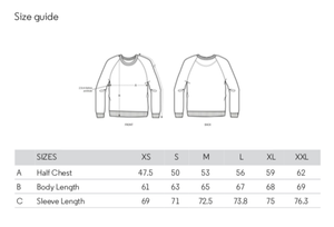FOLQ Women's Sweatshirt Size Guide
