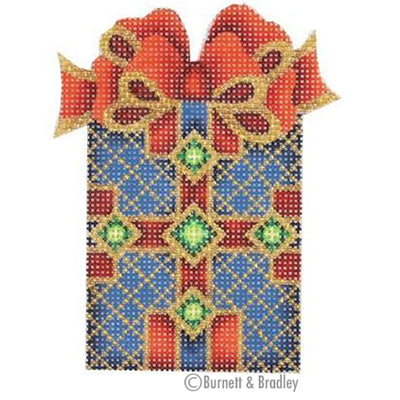 BB 0001 - Package - Blue with Red & Gold Bow