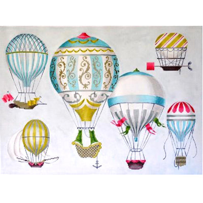 KB 1269 - Hot Air Balloons - Multi-Blue