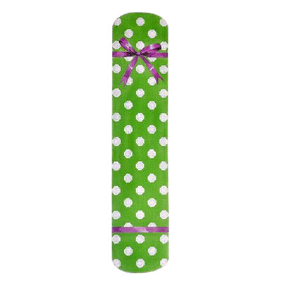 KB 200 - Polka Dot & Bow Eyeglass Case Green