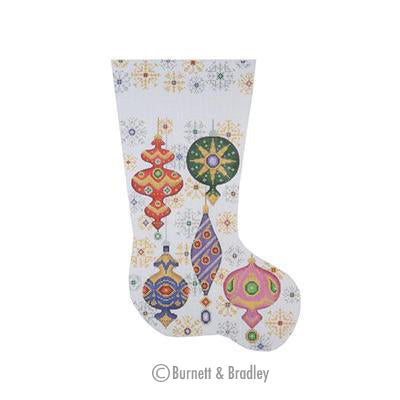 BB 0219 - Christmas Stocking - Christmas Ball & Snowflakes