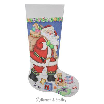 BB 0221 - Christmas Stocking - Santa Carrying Toy Bag