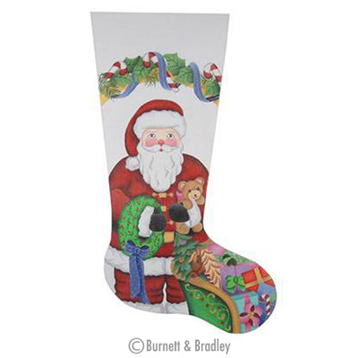 BB 0233 - Christmas Stocking - Santa & Sleigh