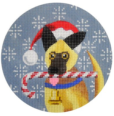 KB 244 - German Shepherd Xmas Circle