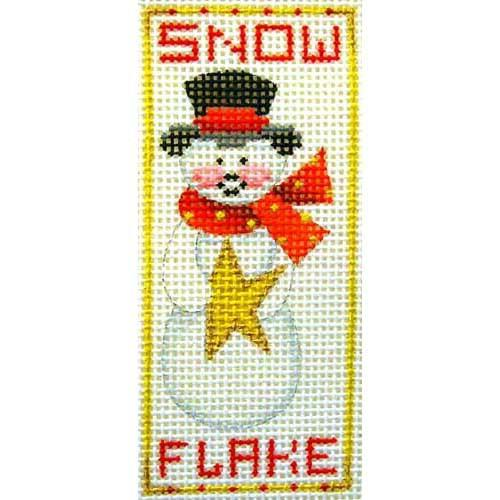BB 2542 - Snowman Snow Flake Ornament