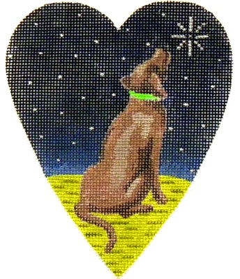 KB 263 - Midnight Chocolate Labrador Heart