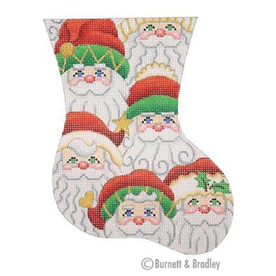 BB 0330 - Mini Stocking - Santa Faces