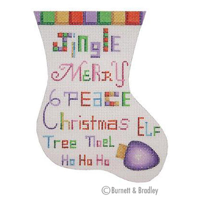 BB 0337 - Mini Stocking - Colorful Christmas Words