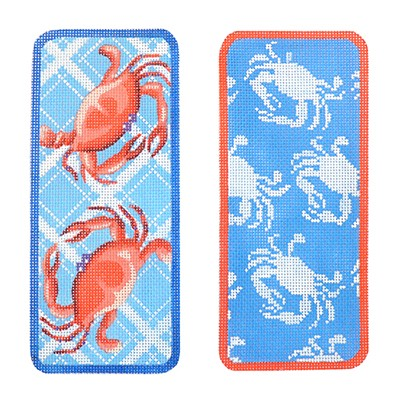 KB 374 - Blue Crab Eyeglasses Case