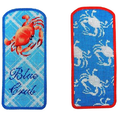 KB 374A - Two Blue Crabs Eyeglasses Case