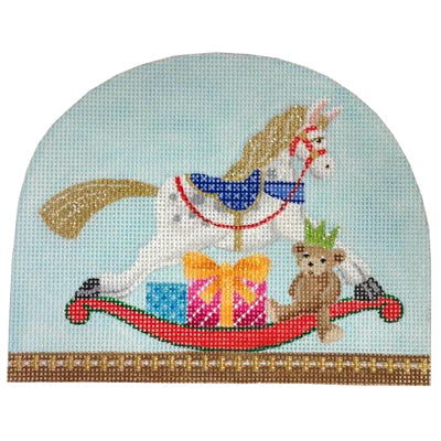 KB 402 - Christmas Snowdome - Rocking Horse