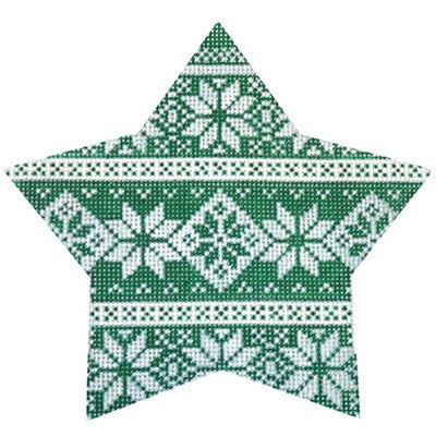 KB 465 - Green Nordic Star Stripe