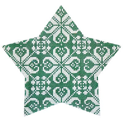 KB 467 - Green Nordic Star All Over