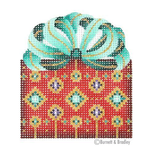 BB 0012 - Package - Red with Aqua Bow