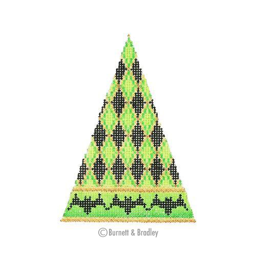 BB 0540 - Halloween Triangle - Diamond Pattern with Bat Border