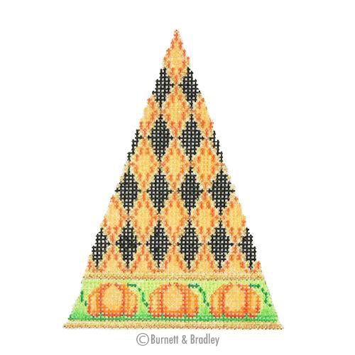 BB 0541 - Halloween Triangle - Diamond Pattern with Pumpkin Border