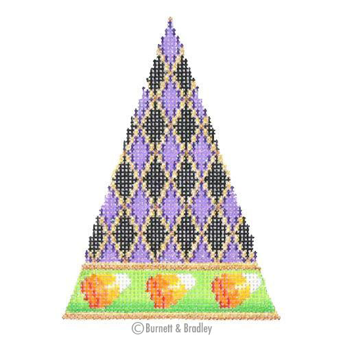 BB 0542 - Halloween Triangle - Diamond Pattern with Candy Corn Border